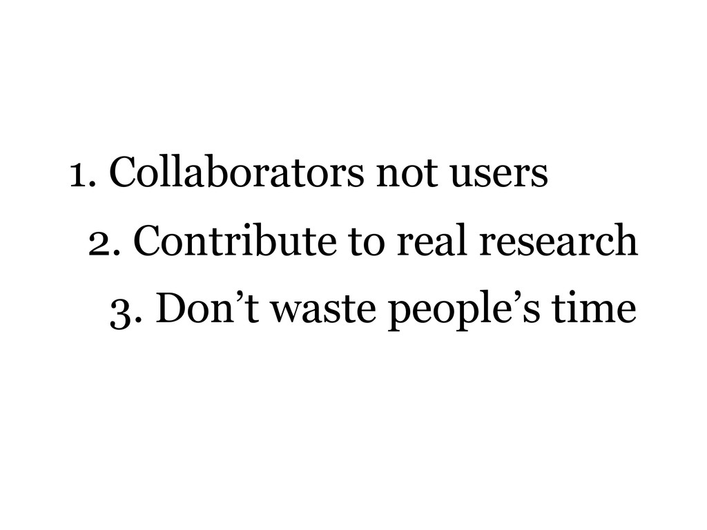 1. Collaborators not users 2. Contribute to rea...