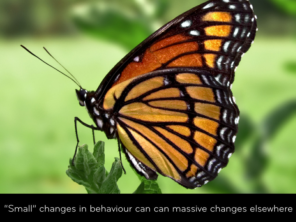"Welcome ""Small"" changes in behaviour can can ma..."