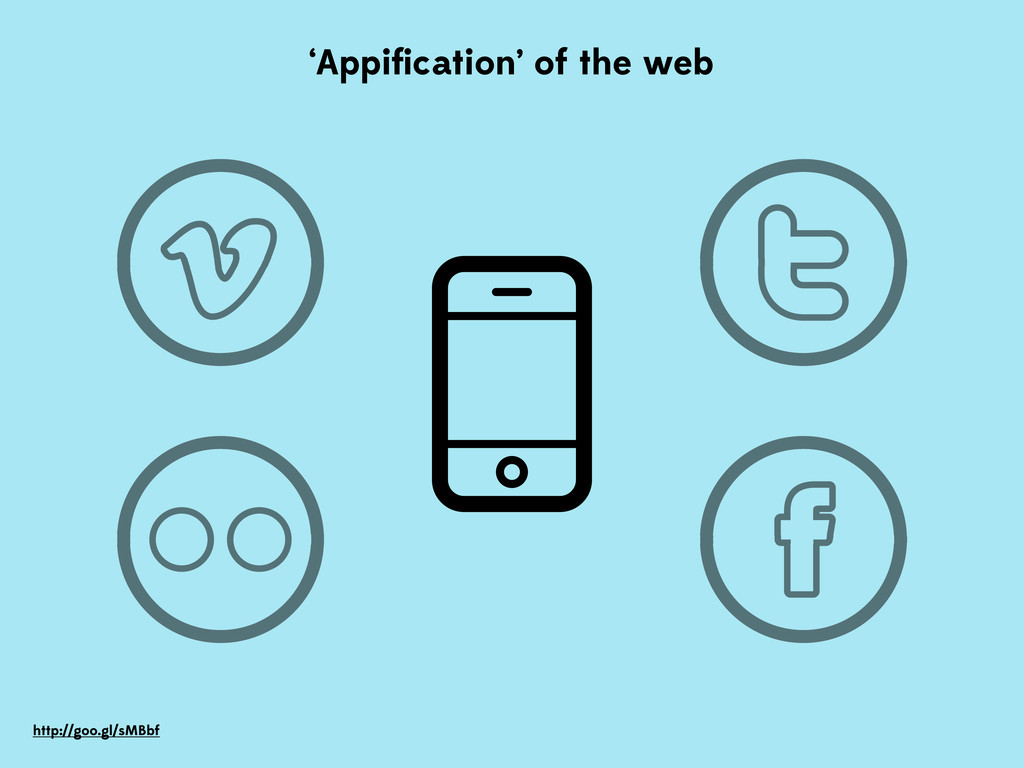 'Appification' of the web http://goo.gl/sMBbf