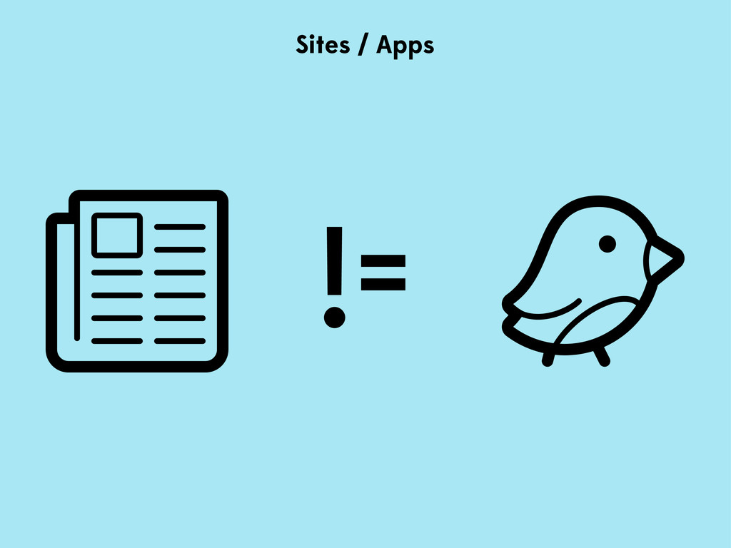 != Sites / Apps