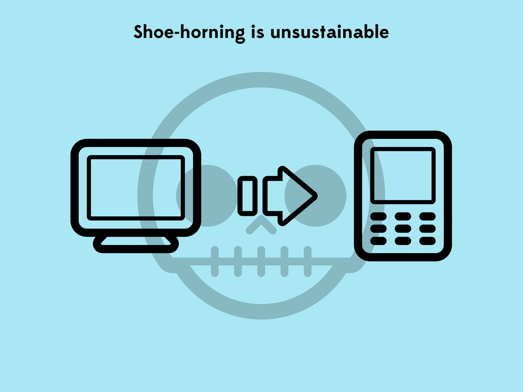 Shoe-horning is unsustainable