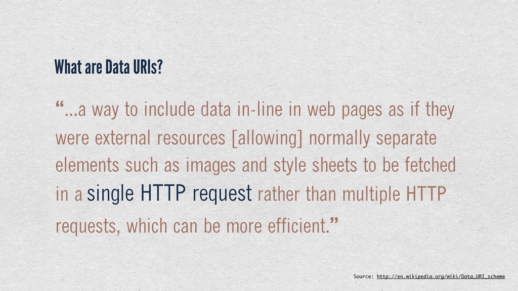 """...a way to include data in-line in web pages ..."