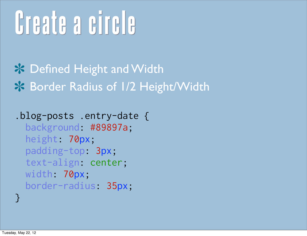 Create a circle Defined Height and Width Border ...