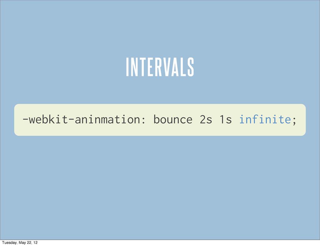 -webkit-aninmation: bounce 2s 1s infinite; INTE...