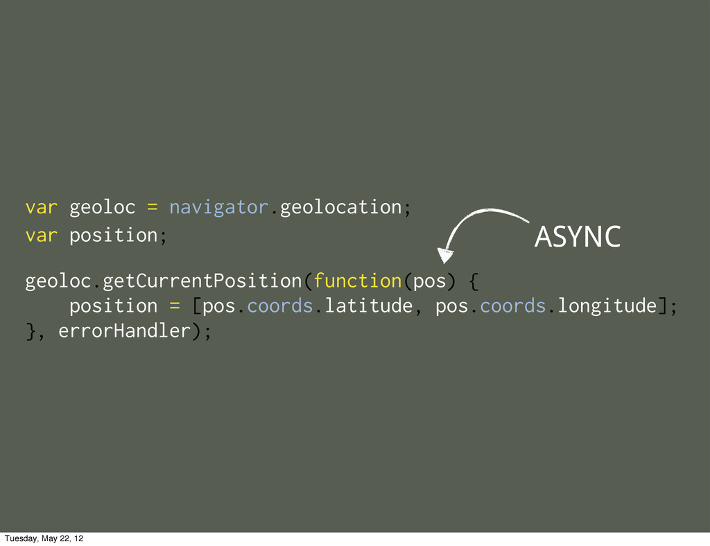 geoloc.getCurrentPosition(function(pos) { posit...