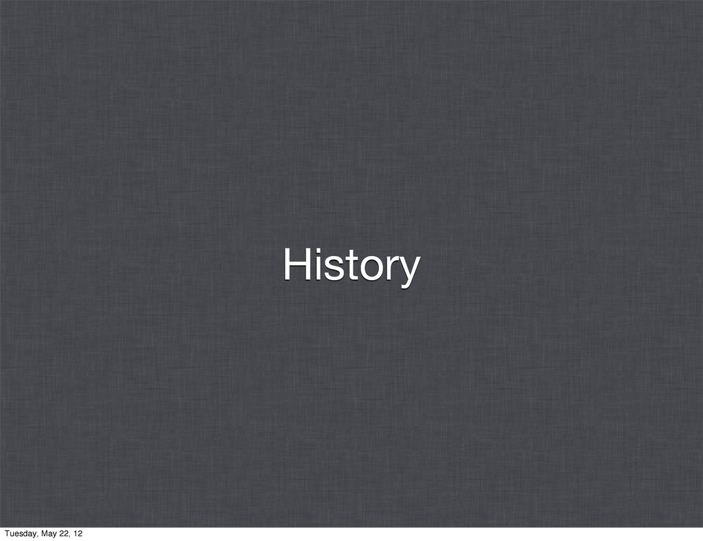 History Tuesday, May 22, 12
