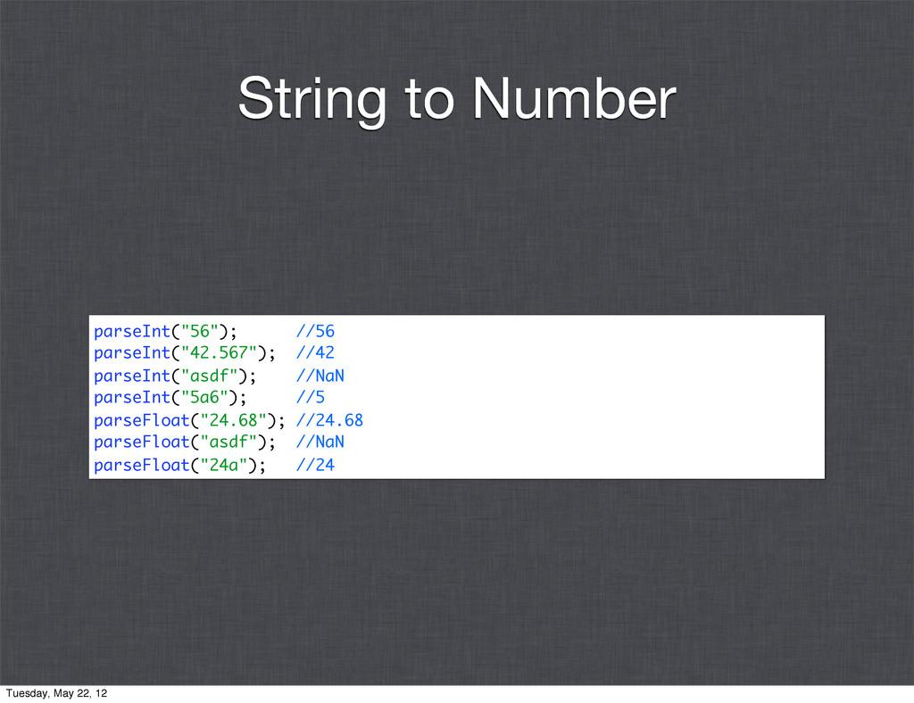 """parseInt(""""56""""); //56 parseInt(""""42.567""""); //42 p..."""