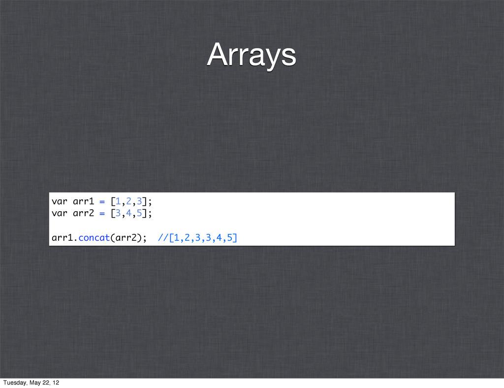var arr1 = [1,2,3]; var arr2 = [3,4,5]; arr1.co...