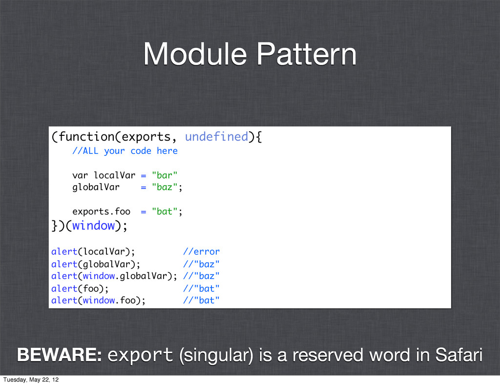 (function(exports, undefined){ //ALL your code ...