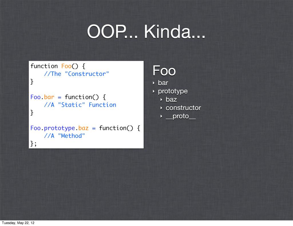 Foo ‣ bar ‣ prototype ‣ baz ‣ constructor ‣ __p...