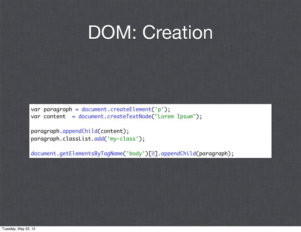 var paragraph = document.createElement('p'); va...
