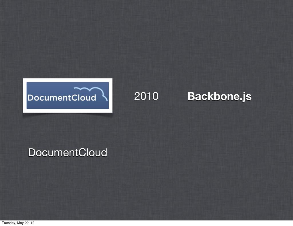 Backbone.js DocumentCloud 2010 Tuesday, May 22,...