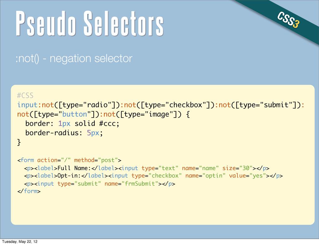 """#CSS input:not([type=""""radio""""]):not([type=""""check..."""