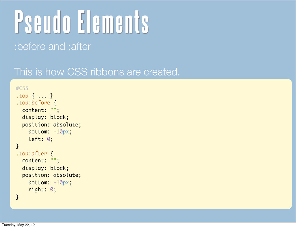 """#CSS .top { ... } .top:before { content: """"""""; di..."""