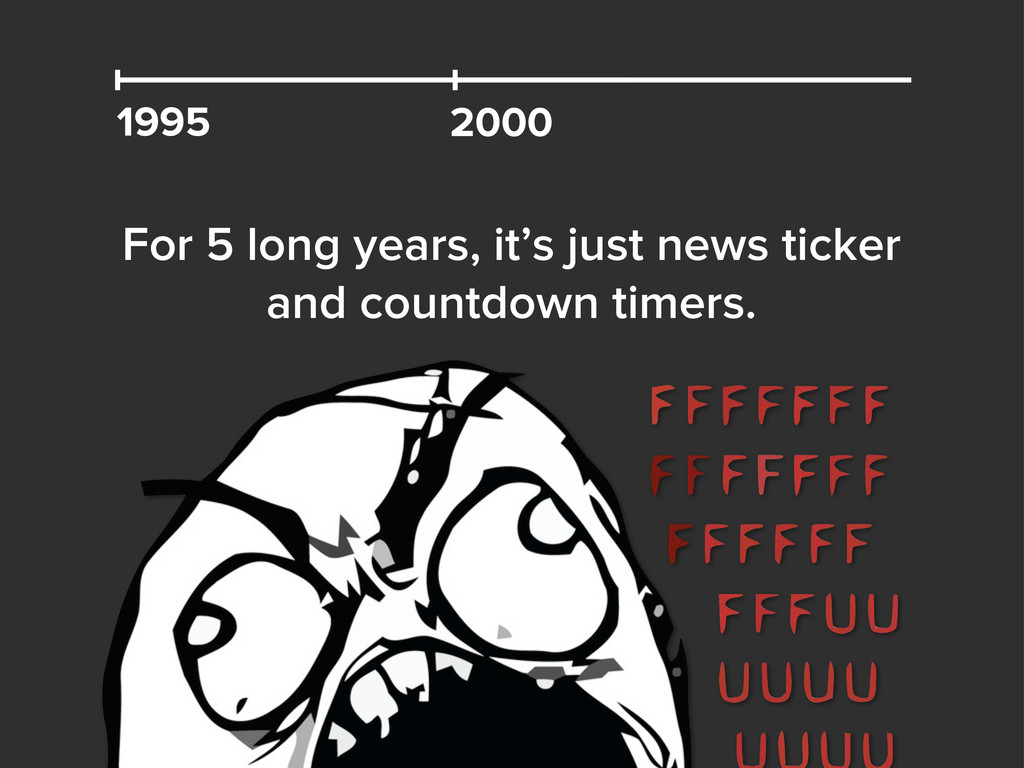 1995 For 5 long years, it's just news ticker an...