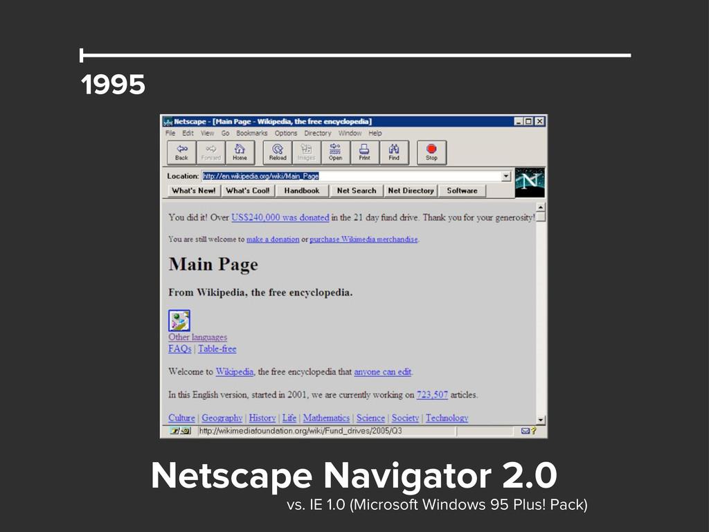 1995 Netscape Navigator 2.0 vs. IE 1.0 (Microso...