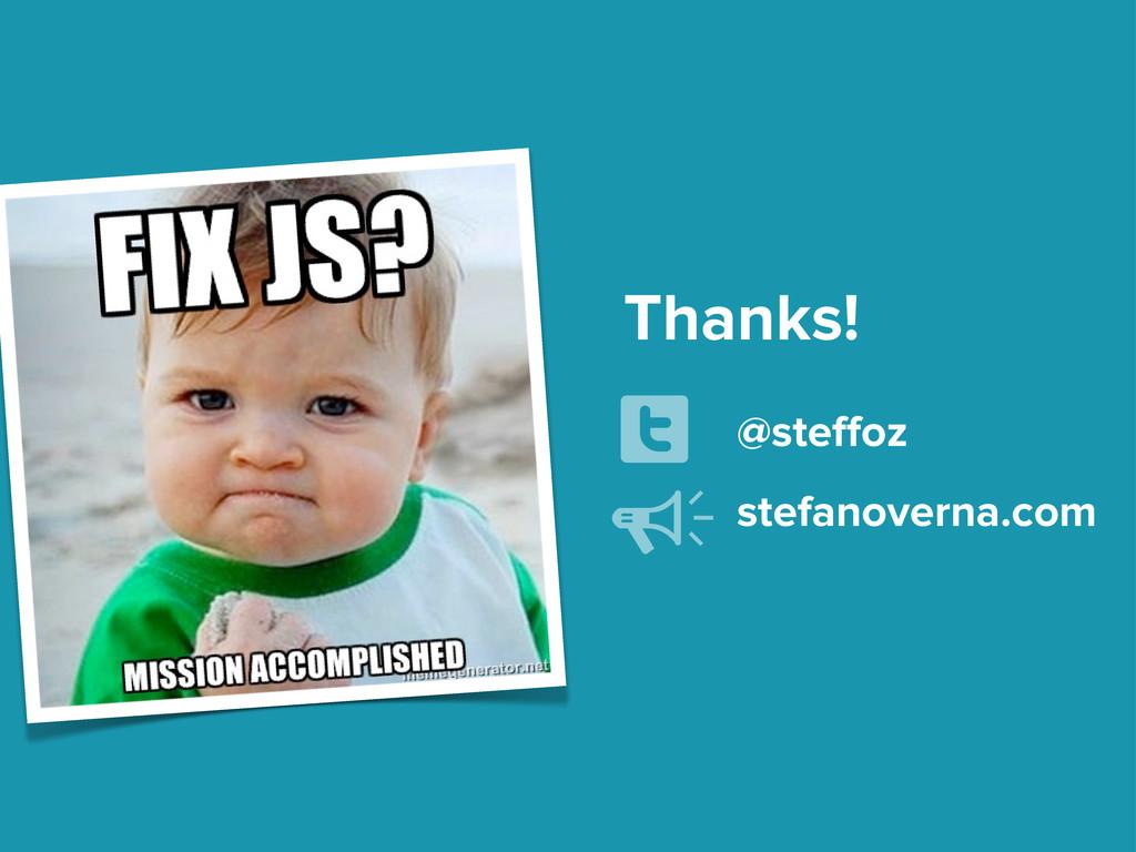 Thanks! @steffoz U stefanoverna.com Y