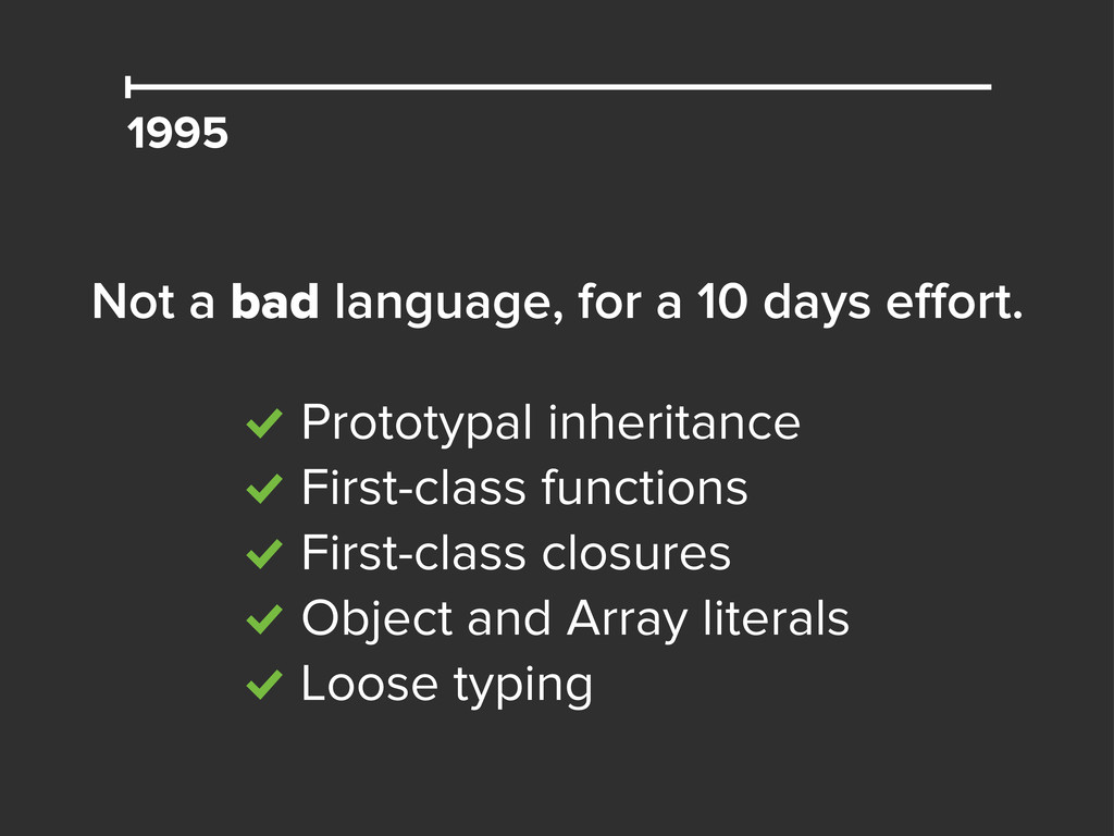 1995 Not a bad language, for a 10 days effort. %...