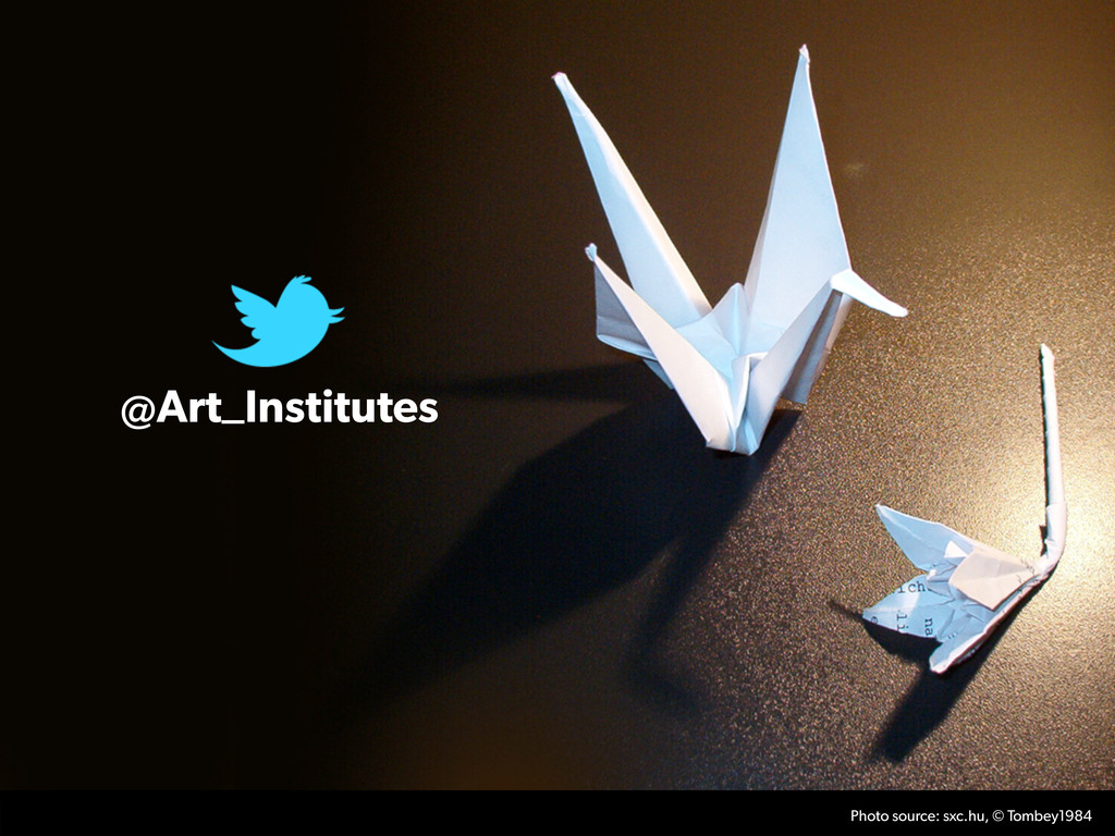 @Art_Institutes Photo source: sxc.hu, © Tombey1...