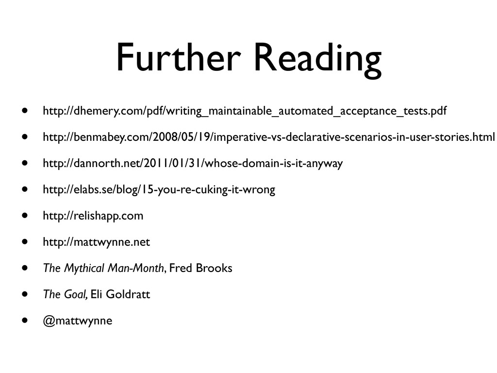 Further Reading • http://dhemery.com/pdf/writin...