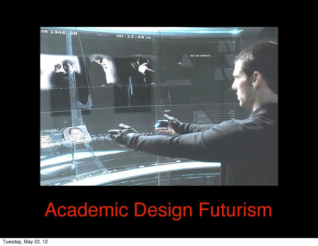 Academic Design Futurism Tuesday, May 22, 12