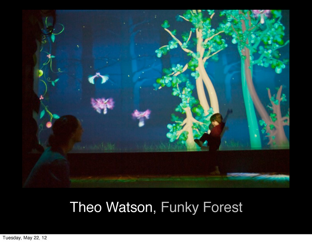 Theo Watson, Funky Forest Tuesday, May 22, 12