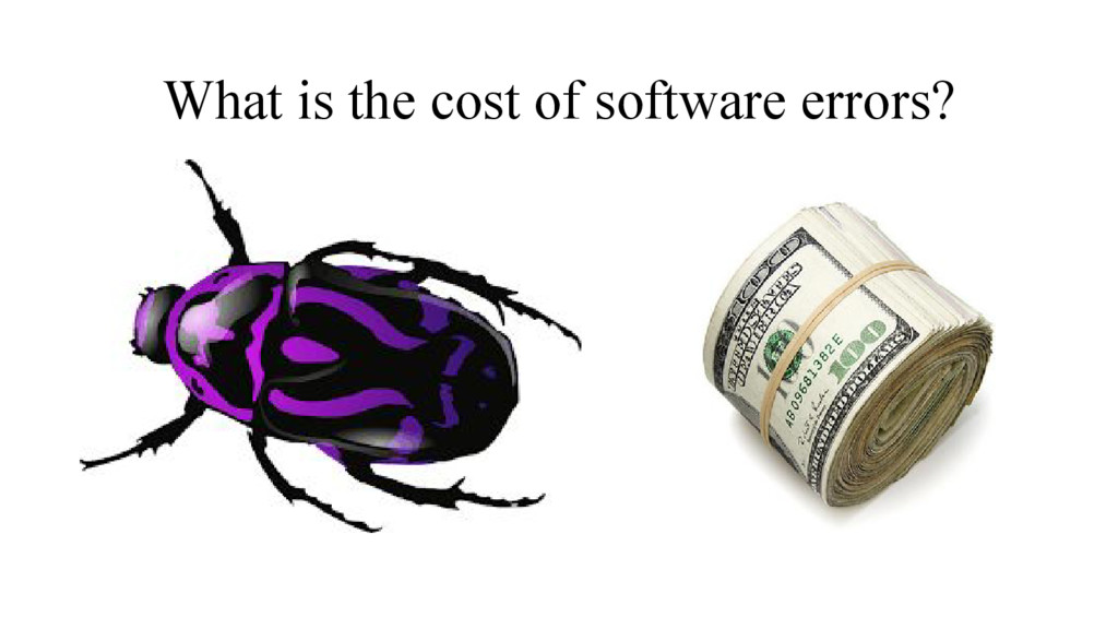 What is the cost of software errors?