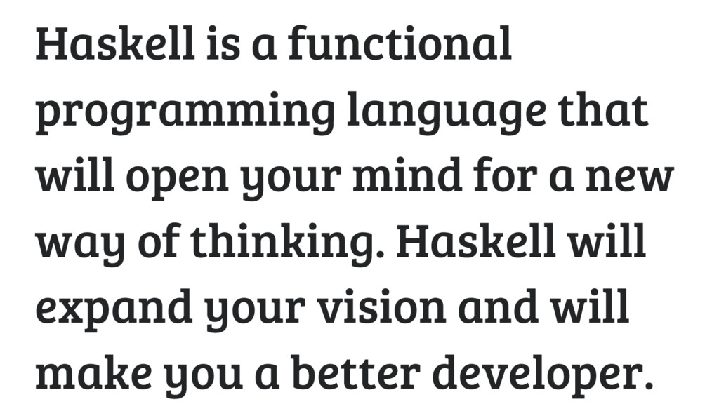 Haskell is a functional programming language th...