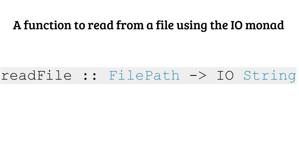 A function to read from a file using the IO mon...