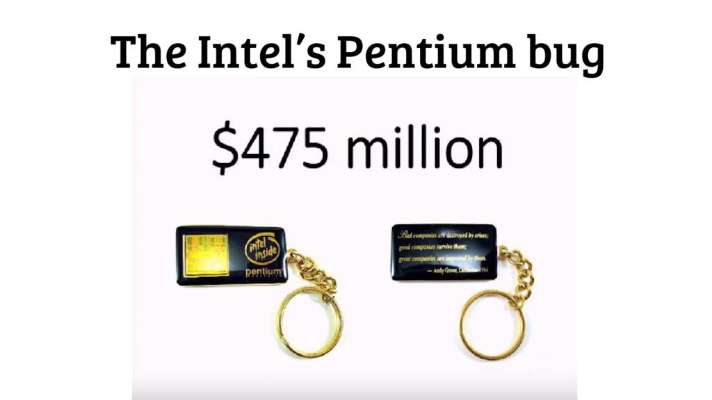The Intel's Pentium bug