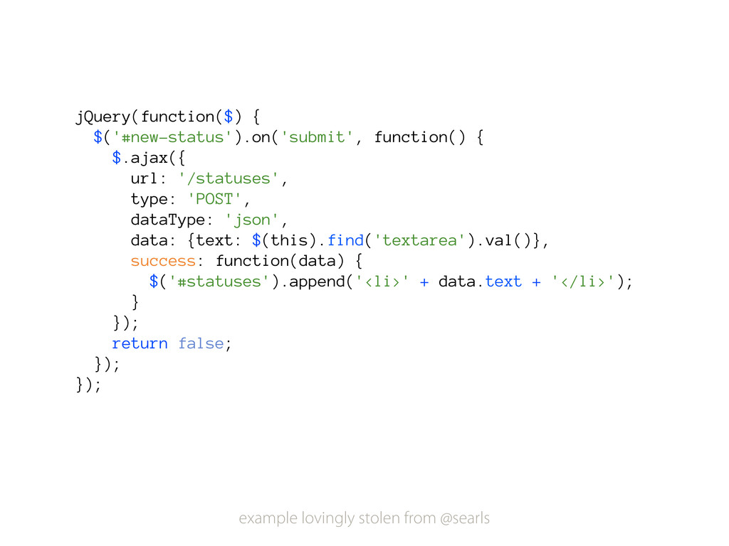 jQuery(function($) { $('#new-status').on('submi...