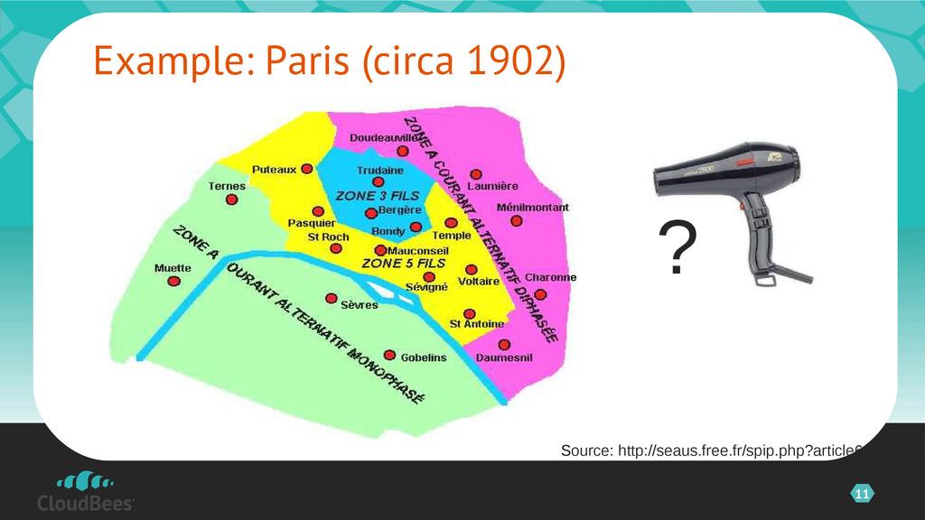 11 Example: Paris (circa 1902) ? Source: http:/...