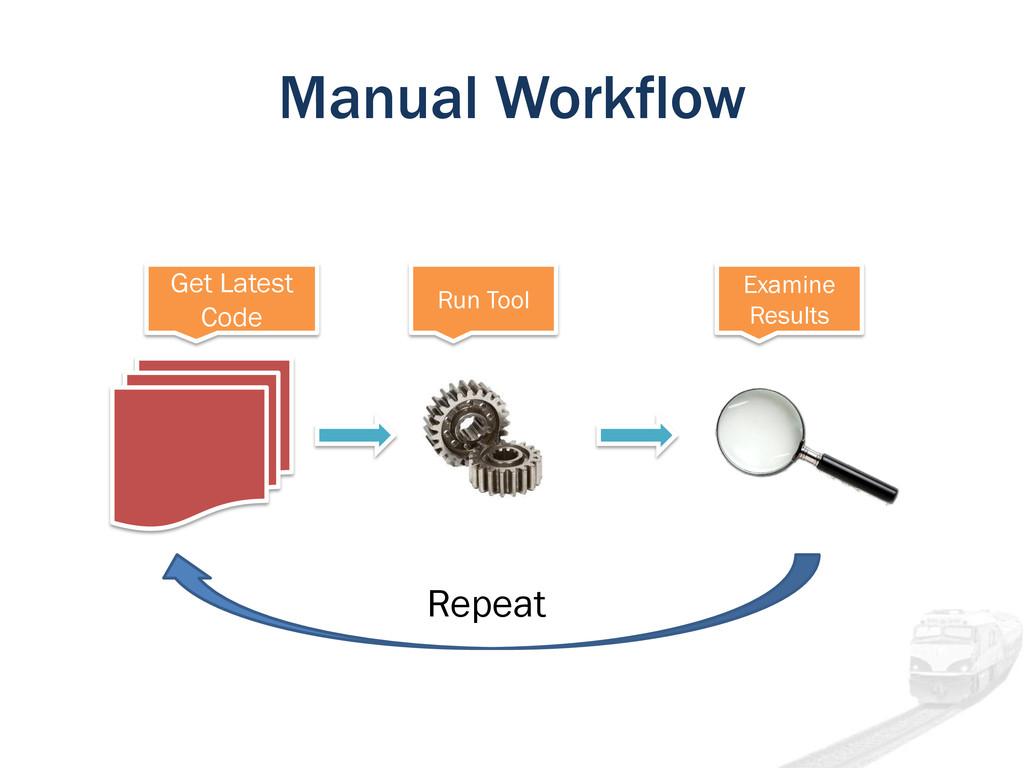 Manual Workflow Get Latest Code Run Tool Examin...