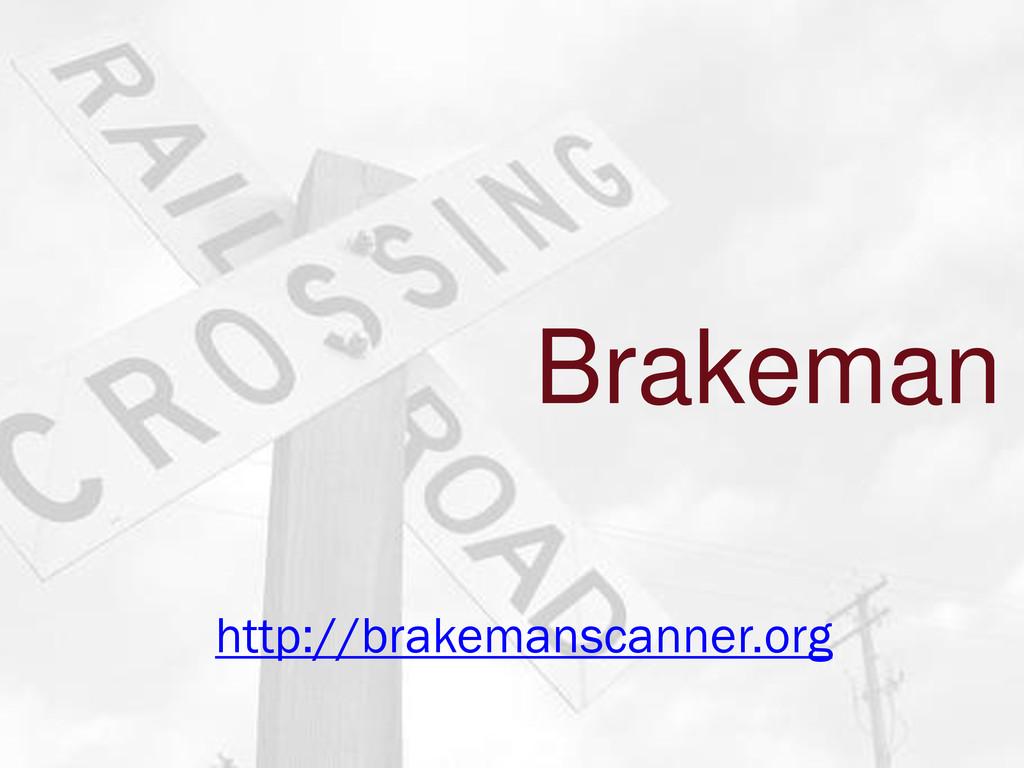 Brakeman http://brakemanscanner.org
