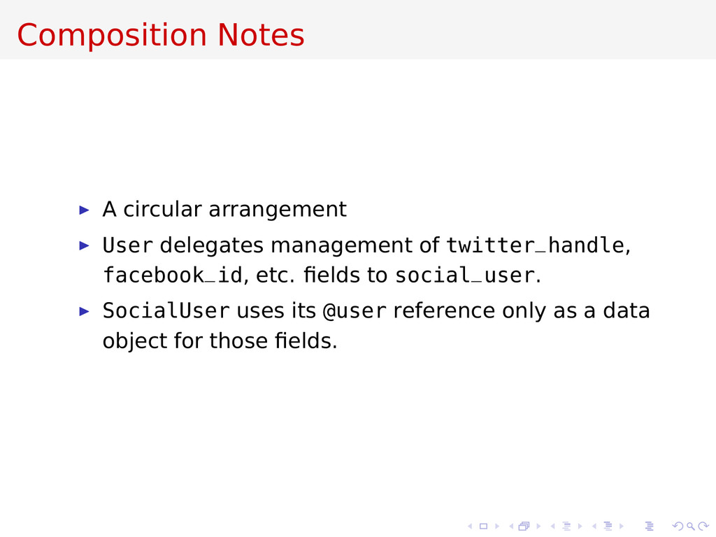 Composition Notes A circular arrangement User d...