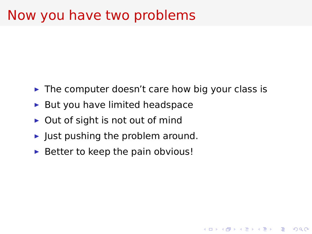 Now you have two problems The computer doesn't ...