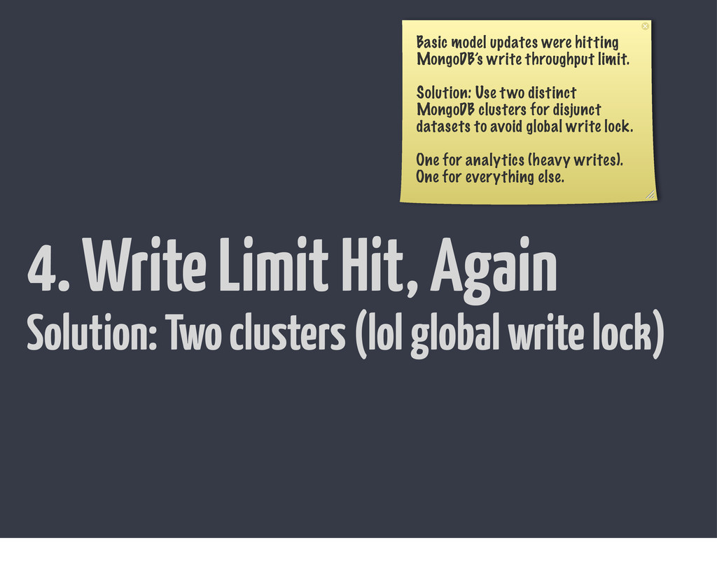 4. Write Limit Hit, Again Basic model updates w...