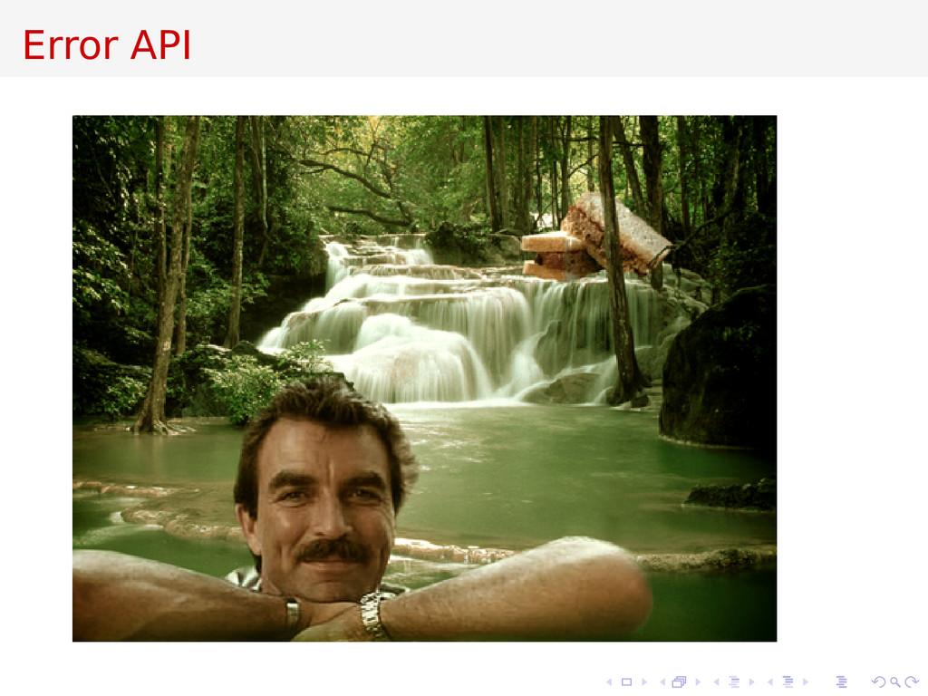 Error API