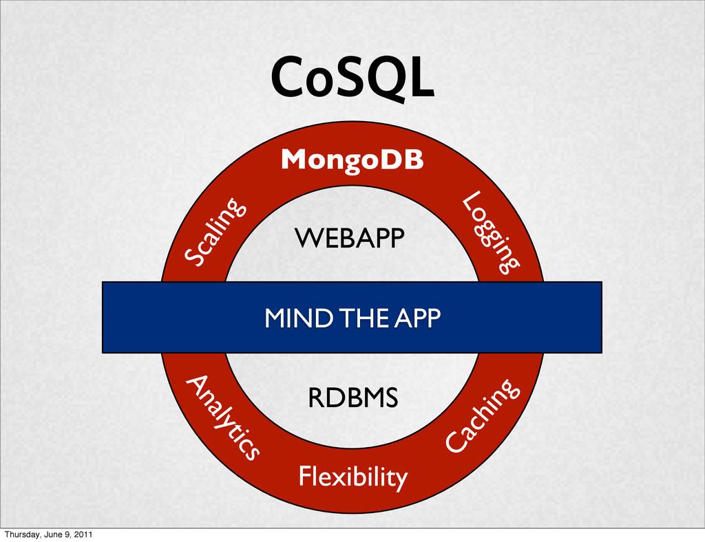 CoSQL Caching Analytics Logging Scaling Flexibi...
