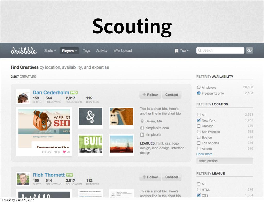 Scouting Thursday, June 9, 2011