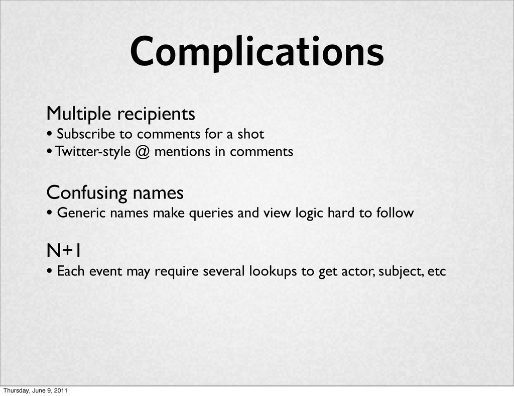 Complications Multiple recipients • Subscribe t...