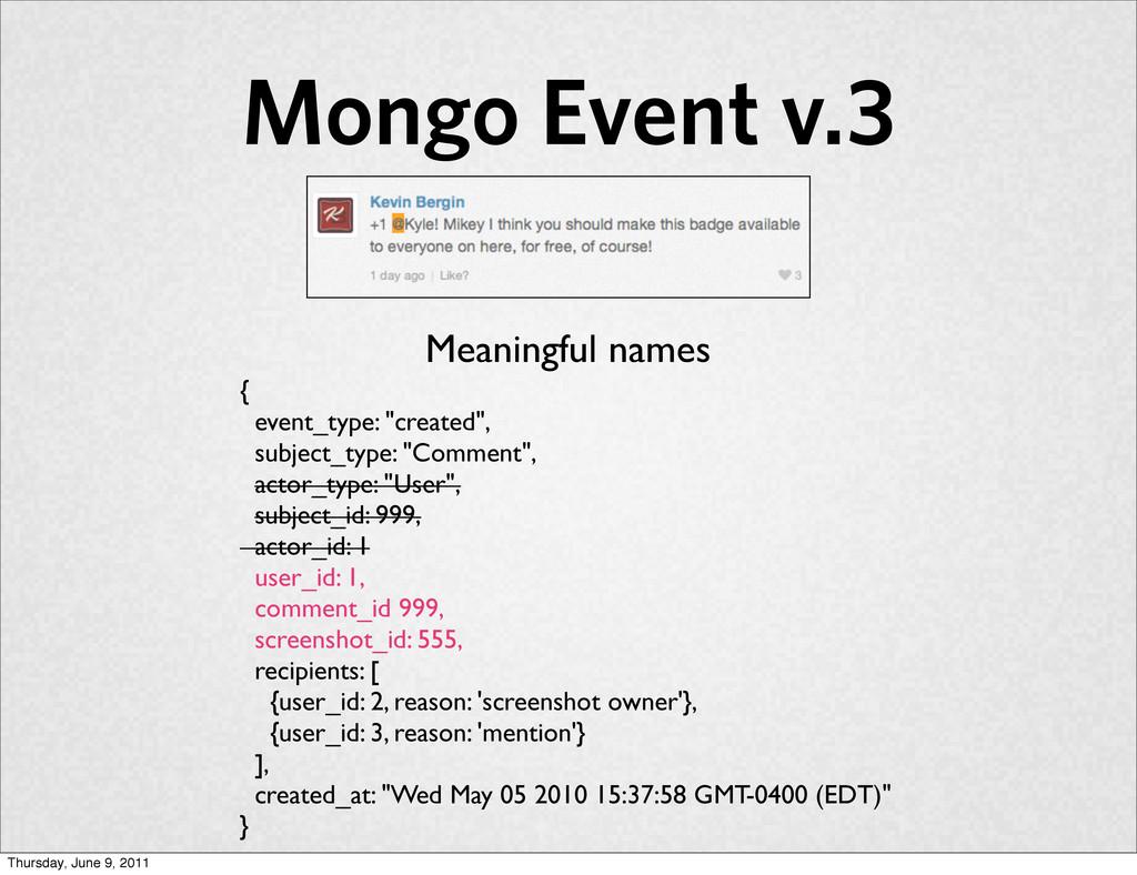 "Mongo Event v.3 { event_type: ""created"", subjec..."