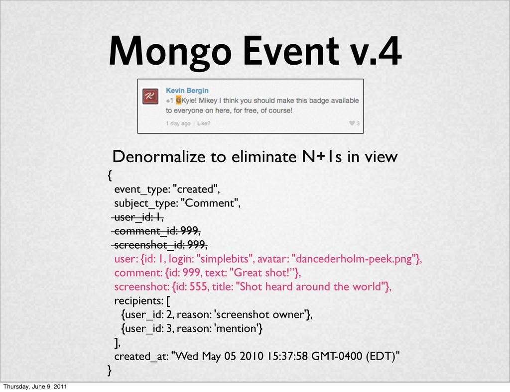 "Mongo Event v.4 { event_type: ""created"", subjec..."