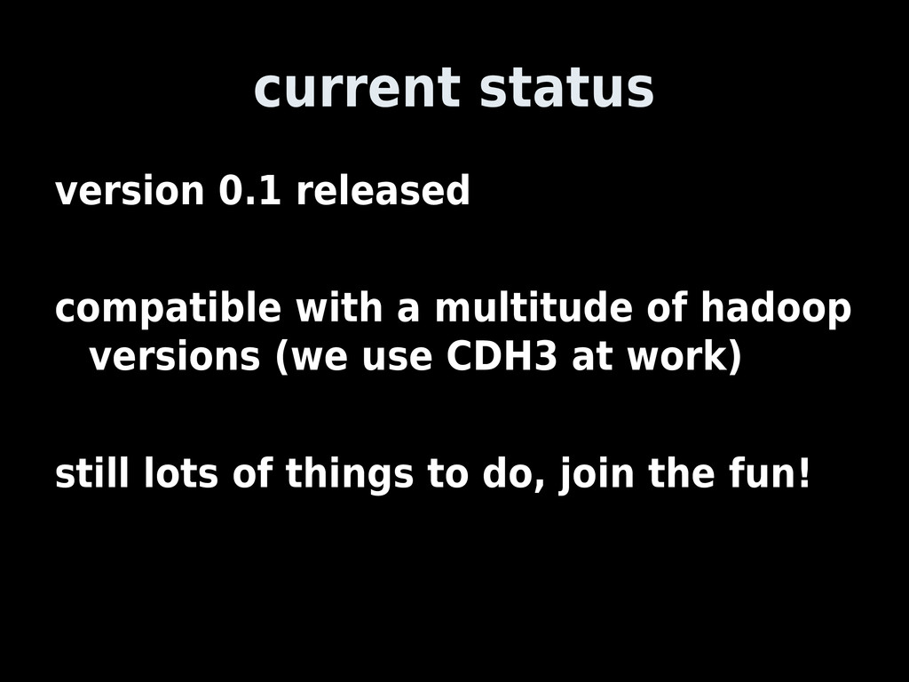 current status version 0.1 released compatible ...