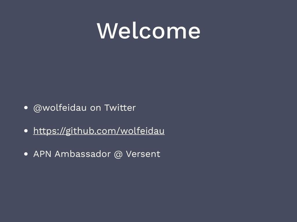 Welcome • @wolfeidau on Twitter • https://githu...