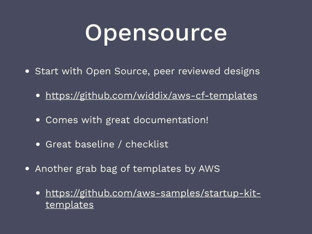 Opensource • Start with Open Source, peer revie...