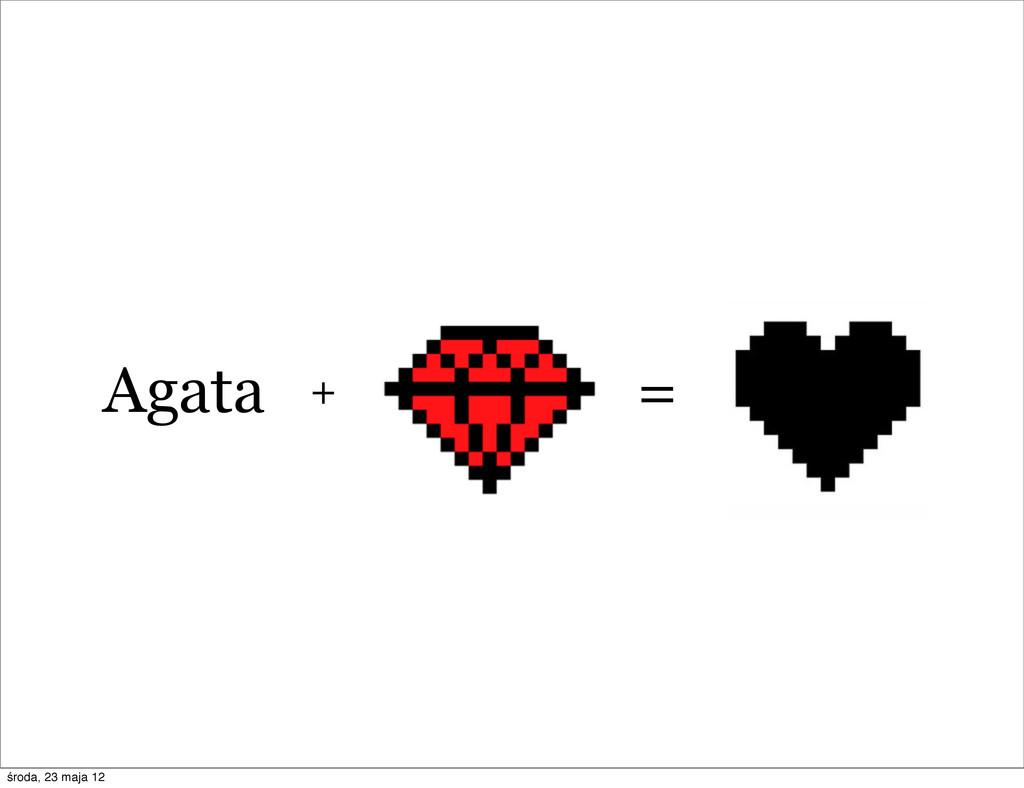 = Agata + środa, 23 maja 12
