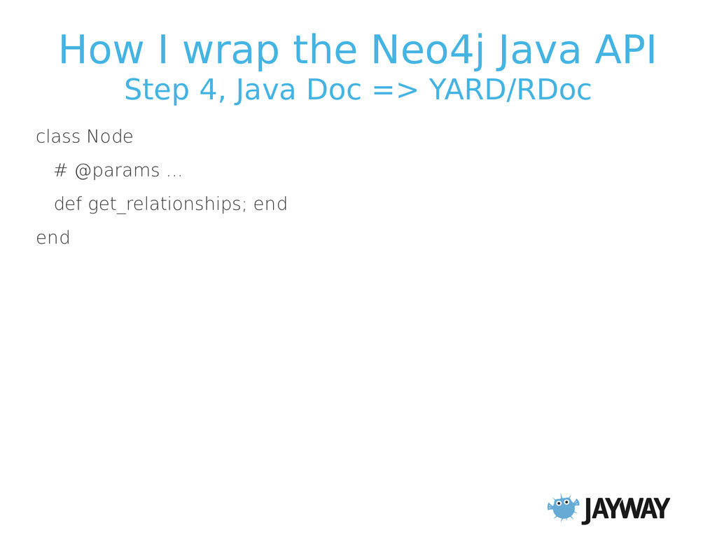 How I wrap the Neo4j Java API Step 4, Java Doc ...