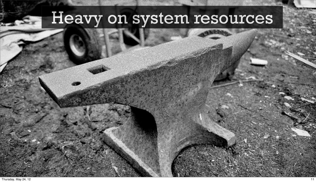 Heavy on system resources 11 Thursday, May 24, ...