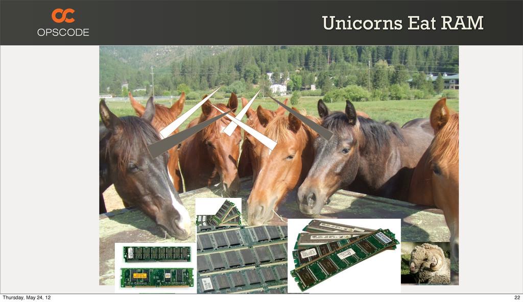 Unicorns Eat RAM 22 Thursday, May 24, 12